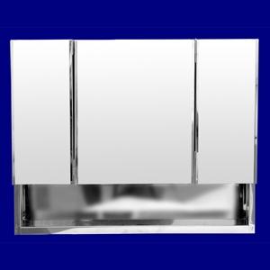 Foto 5100 - Botiquín de Acero Inoxidable, 3 Cuerpos, Repisa, sin luz de