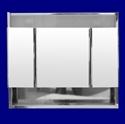 Foto 5101 - Botiquín de Acero Inoxidable, 3 Cuerpos, Repisa, con luz de