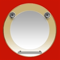 Foto 10 - Espejo Redondo 60cm, Luna 40cm, 2 Spots, 1 Repisa de