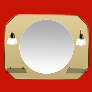 Foto 14 - Espejo Octogonal 80x60cm con Luna 50cm, 2 Tulipas, 2 Repisas de