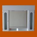 Foto 8013 - Botiquín rectangular, 2 Módulos, 2 Luces con Repisa, Puertas con vidrio, Capilla de