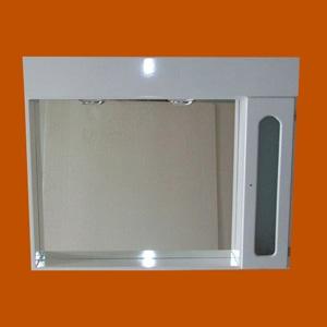 Foto 8014 - Botiquín Rectangular, 1 Módulo lateral derecho, 2 Luces, Puerta con vidrio, Capilla de