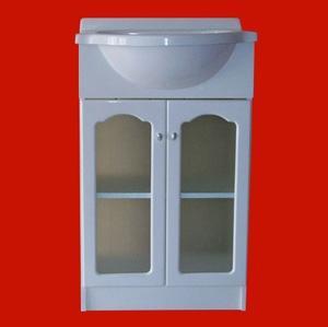 Foto 8390 - Vanitory Venecia 50cm, 2 Puertas con vidrio, Capilla, con Mesada de