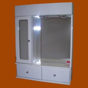 Foto 8021 - Botiquín Rectangular con Repisa, Módulo lateral derecho, Luz, 2 Cajones, Puerta con espejo rectang de